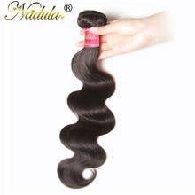 Aliexpress Nadula Hair Brazilian Body Wave Hair Non-Remy Hair Weaves 100% Human Hair Bundles 8-30inch Natural Color Free Shippin