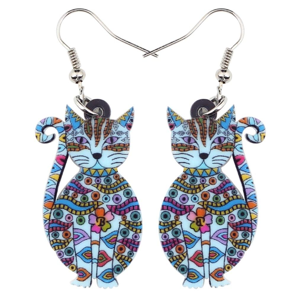 Acrylic Cat Fashion Earrings 1