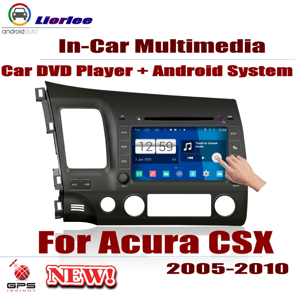 Pour Acura CSX 2005 ~ 2010 voiture Android GPS Navigation lecteur DVD Radio stéréo ampli BT USB SD AUX WIFI HD écran multimédia