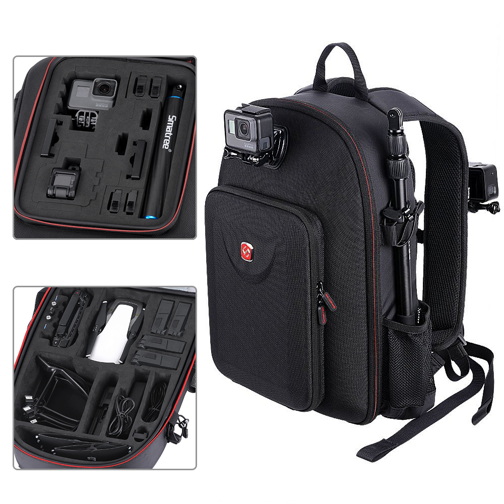 Smatree For DJI Backpack Hard Case Water-resistant For DJI Mavic Air /GoPro Hero Session/ Hero 6/5/4/3/2/1/Tablet PC Customized цена и фото