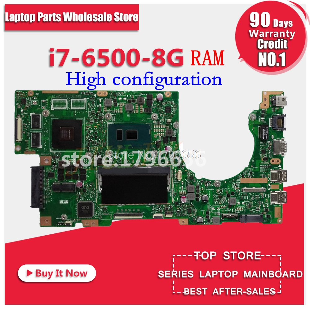 K501UX rev2.0 I7-6500-8G RAM high configuration For ASUS K501UB K501U A501U K501LX K501LB laptop motherboard K501UX motherboard for asus k501ux k501ub laptop motherboard k501ux mainboard rev2 0 i5 cpu with graphics card 100