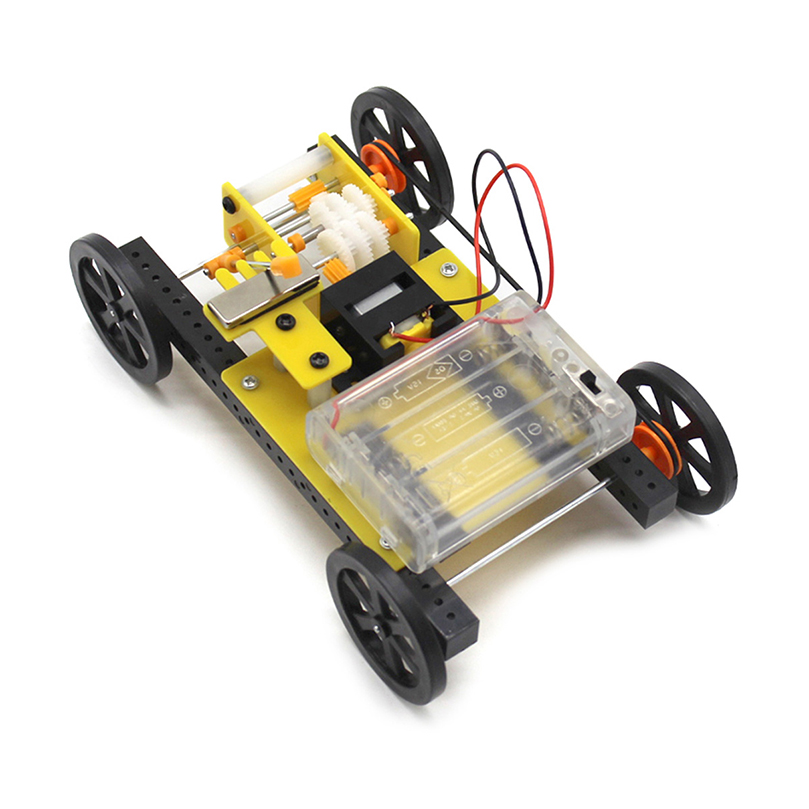 DIY Kit Gear Shift Car Kit Three-speed Adjustment Mechanical Transmission Model DIY Electronic Suite Handmade Toys