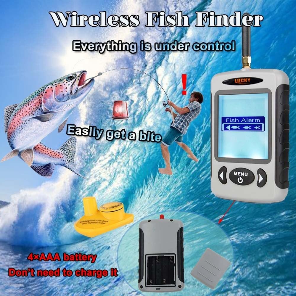 Ffw718 sondeur sans fil sondeur sondeur portable détecteur de poisson alarme leurre de pêche à terre chercheur Kayak bateau appât poisson