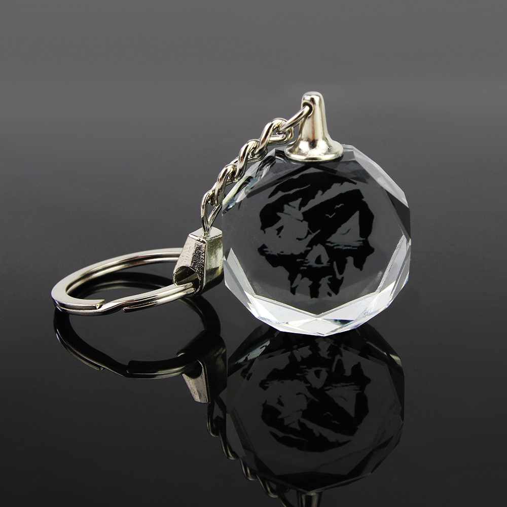 New Arrival Hot Sell Sea Of Thieves K9 Crystal Keychain Octagonal Alloy Key Chain Charm Jewelry&Unique Gifts For Friends