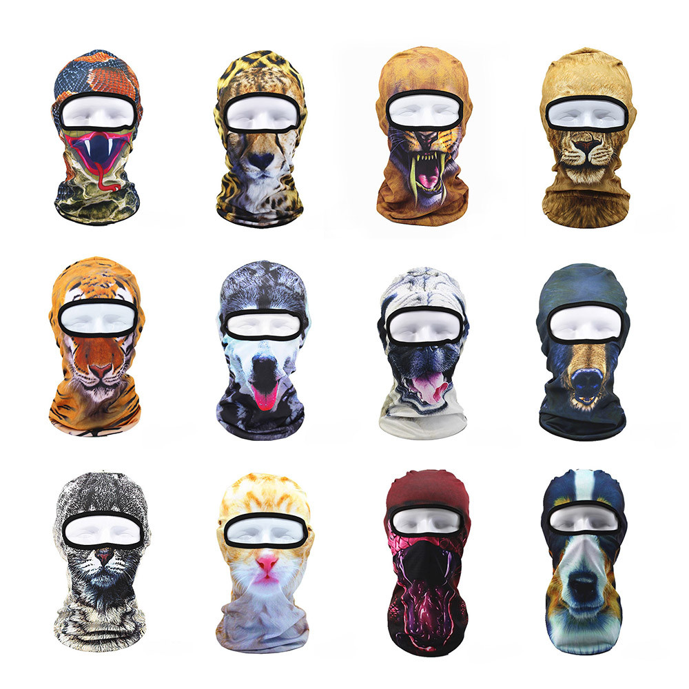 3D Animal Outdoor Ski Masks Bike Cyling Beanies Face Mask Winter Warm Wind Stopper Face Hats For Bicycle Bike Outdoor Sports