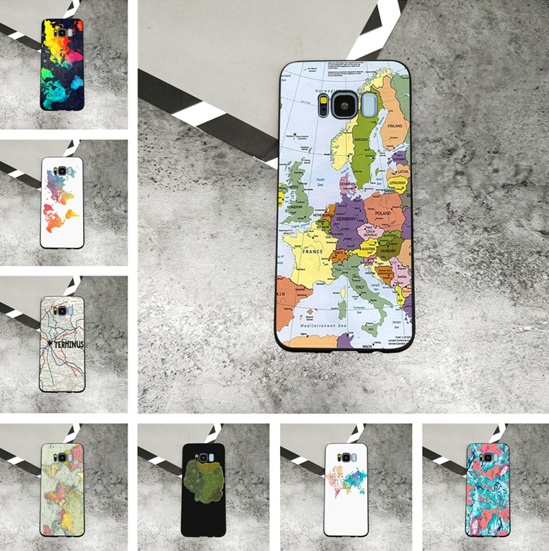 World Map Travel Plans Clear soft Phone Cases For Samsung