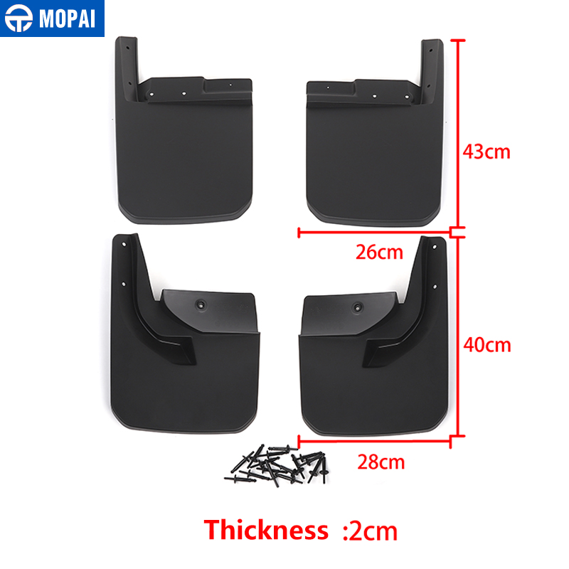 Image 4 - MOPAI Car Mudguards for Jeep Wrangler JL 2018 Car Fender Front Rear Splash Guards Mud Flaps for Jeep JL Wrangler Accessories-in Mudguards from Automobiles & Motorcycles