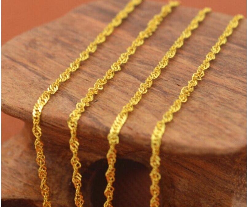 Collier Unique pour femme en or jaune parfait/16 pouces