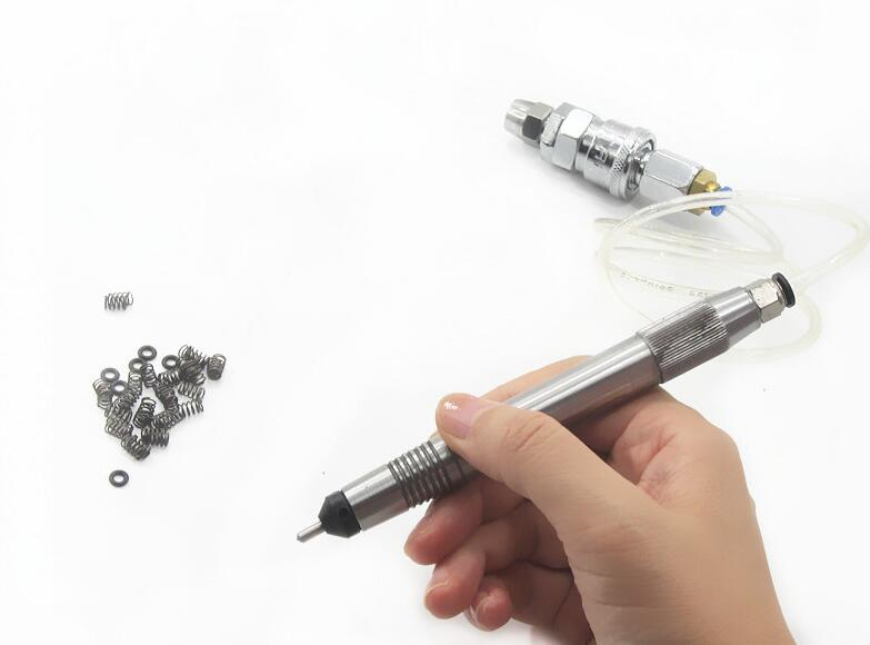 Free Ship Pneumatic Hammer Handpiece With Accessories, Engraving Tools Diamond Point Sanding Needle Gold Sandblasting