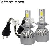 CROSS TIGER C9 Car LED Headlight 7200LM Pair 6000K Auto Bulb Lights H1 H3 880 H7