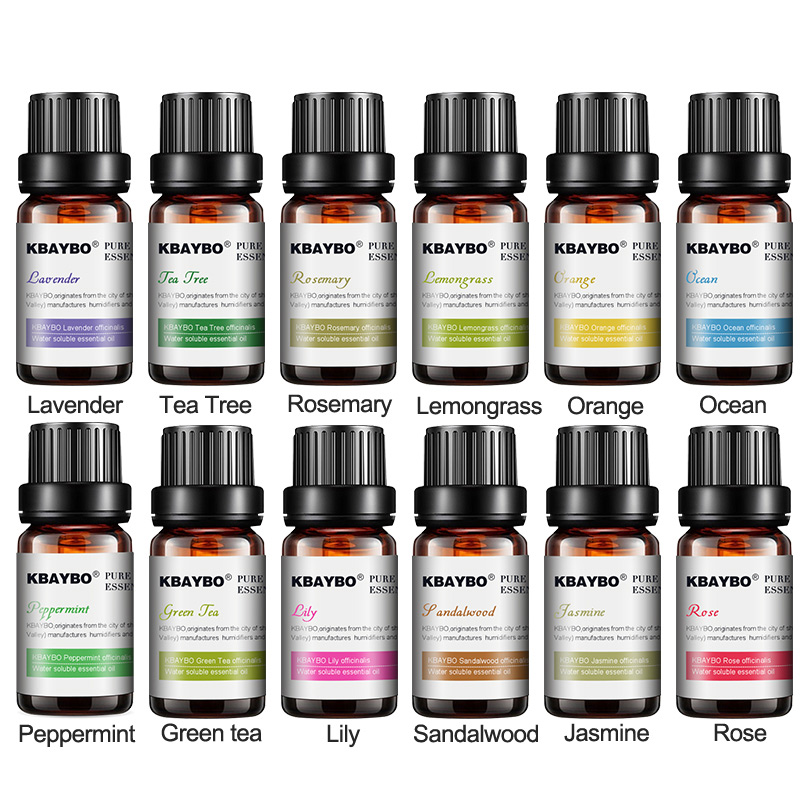 New product 12 Kinds of Fragrance Essential Oils Water-soluble Oil for Humidifier Aromatherapy Lavender Oil Jasmine Oil