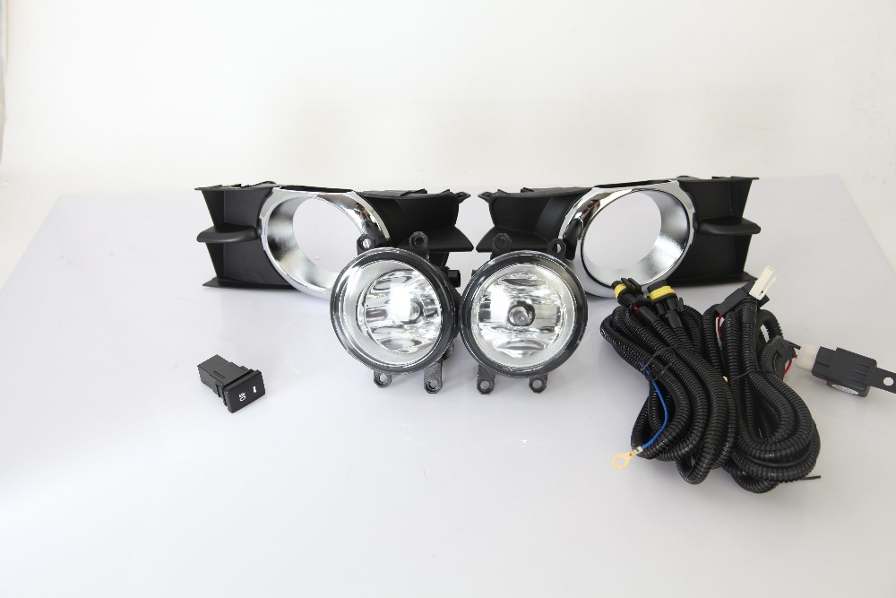 eOsuns halogen fog lamp for toyota wish 2009, top quality OEM design with harness, wiring kit and switch eosuns halogen fog lamp for suzuki swift 2005 top quality oem design with harness wiring kit and switch
