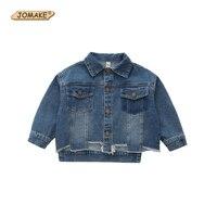 New Autumn Denim Jackets For Girls Fashion Irregular Hem Cowboy Girl Coat Children Jean Outerwear Baby Girls Jacket Kids Clothes