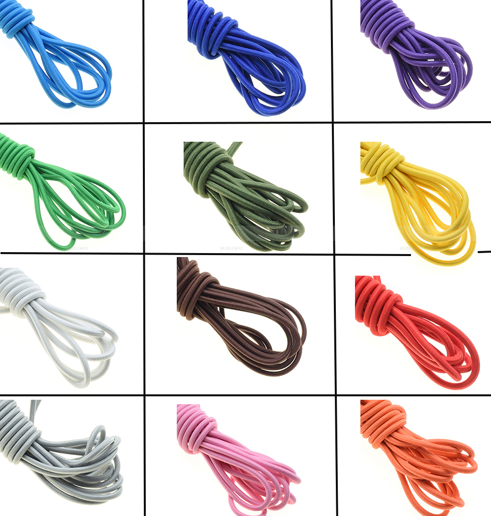 """40-Pc 12/"""" Inch Elastic Bungee Tie & Toggle Elasticated shock cords New"""
