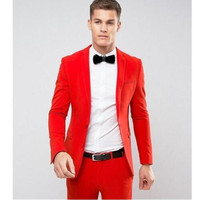 men formal suit Wedding Grooms Tuxedo Dinner Christmas Suit Jacket Pants Best Man Suits Blazers