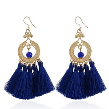 цена на Bohemian Style New Long Earrings Fashion Jewelry Women of European and American Big Brand Long for the women Earrings