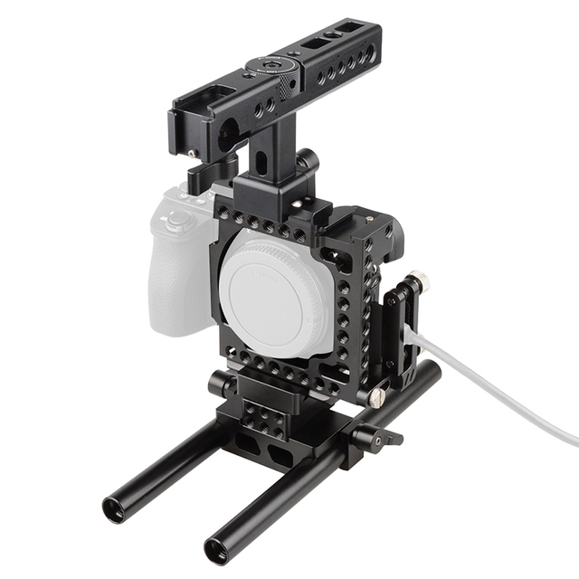 Camvate Dslr Rod Rig Camera Video Cage With Handle Grip For A6000