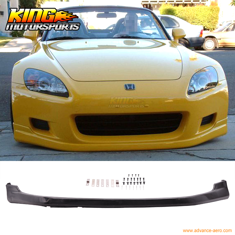 For 00-03 Honda S2000 2Dr AP1 T-R Urethane Front Bumper Lip Spoiler 01 PU Body Kit for 01 02 honda accord 2dr front bumper lip oe style urethane pu