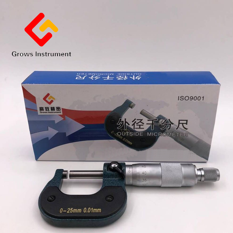 25-50mm Impregnated alloy Outside Micrometer Caliper Gauge Meter Micrometer Carbide Tip Measure Tools Various specifications