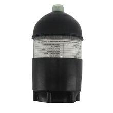 AC50201 2L CE dalış tüpü/Dalış 4500psi Karbon fiber silindir Pcp Mini/Sıkıştırılmış/Paintball Hava Tankı/Tabancası + kapak Kauçuk Koruyucu
