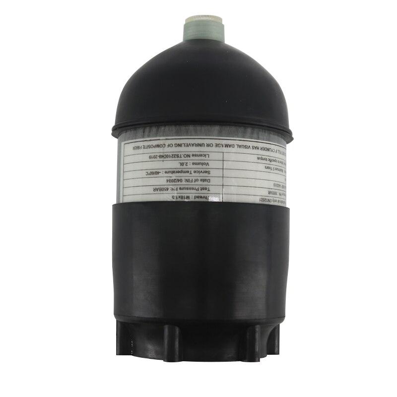 AC50201 2L CE réservoir de plongée/plongée 4500psi cylindre en Fiber de carbone Pcp Mini/comprimé/Paintball réservoir d'air/pistolet + couvercle protecteur en caoutchouc