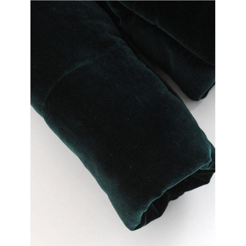 Longues Green Solide Chaud Vêtements Hiver Dames Épais Manches En À Veste Couleur Lâche Velours Coton Manteau Zipper XUppaqxw