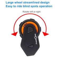 FreedCon T-Max Motorcycle Helmet Intercom Bluetooth Headset Headphones Speaker 1000m 6Riders Interphone moto Wireless Intercoms