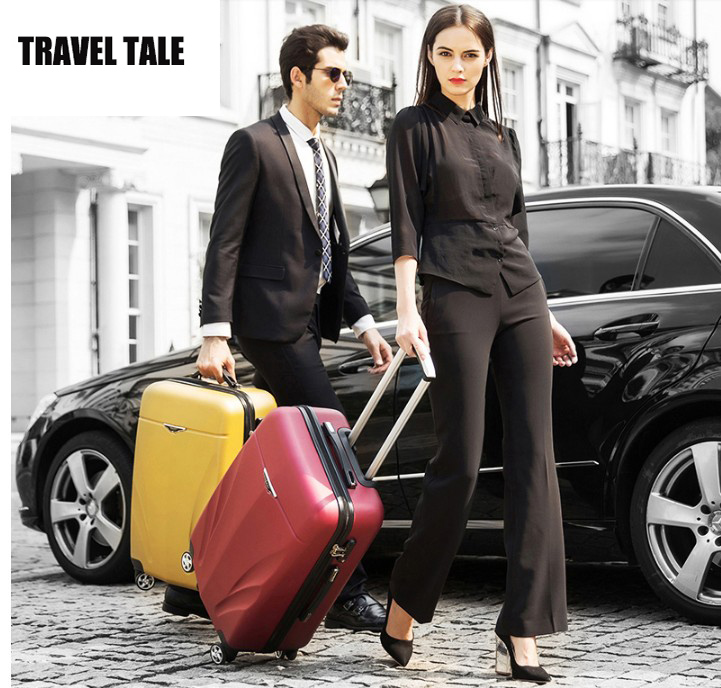 """TRAVEL TALE 20""""24""""26""""inch men and women business spinner abs hardside rolling luggage suit case for traveling"""