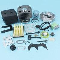 ลูกสูบขนาด 50 มม. Flywheel Ignition Coil ท่อไอเสียสำหรับ Husqvarna 268 272 272XP Chainsaw ปะเก็นชุด Nikasil ชุบอะไหล่|husqvarna exhaust|ignition coil for husqvarnafor chainsaw -