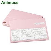 Animuss Removable Bluetooth Keyboard Flip Leather Stand Case For iPad air /air2/pro 9.7/new iPad 9.7 Keyboard 9.7 Smart Cover removable bluetooth keyboard fold leather case cover stand for chuwi hi8 hi8 pro new tablet 8inch cover case with keyboard