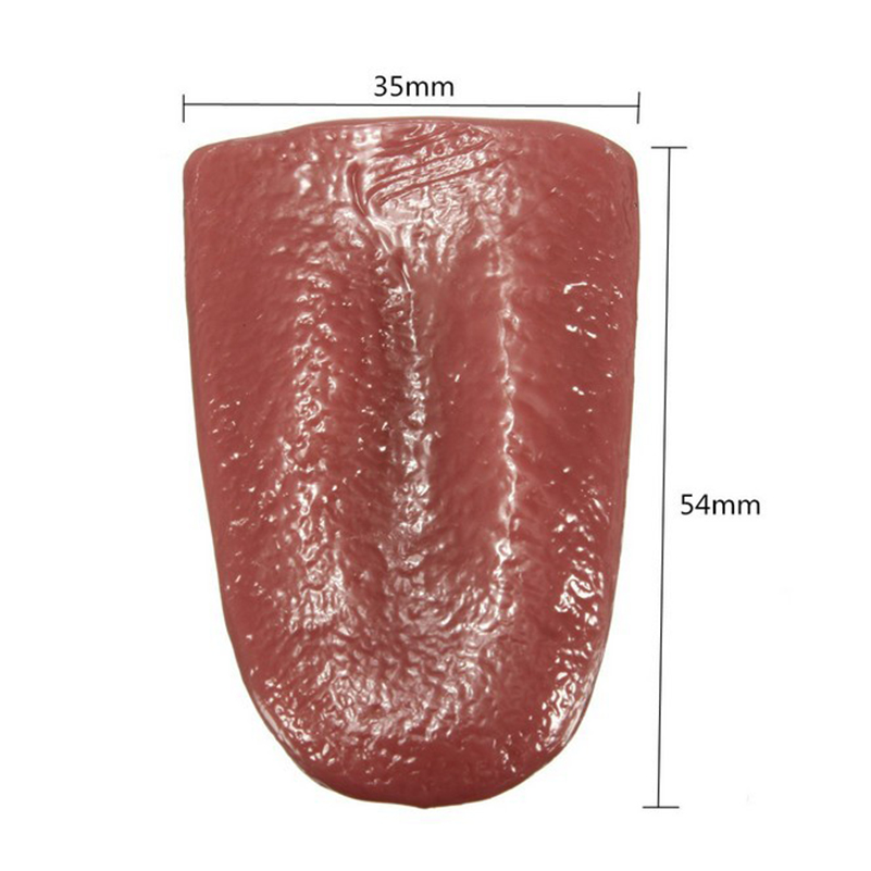 1 Piece Trick Funny Rubber Prank Fake Tongue Stretch Magic Fake Tongue Toys for Joke Trick Novelty Horror Magic Toys for Gifts in Gags Practical Jokes from Toys Hobbies