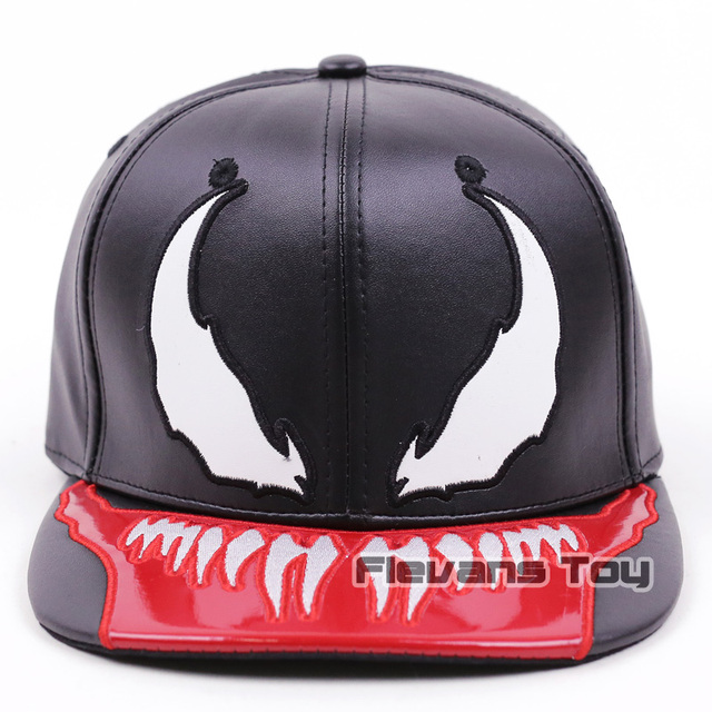 b55988170bf Marvel Spiderman Venom Snapback Caps Cool Fashion Hip Hop Hat Adult Faux  Leather Baseball Cap For Men