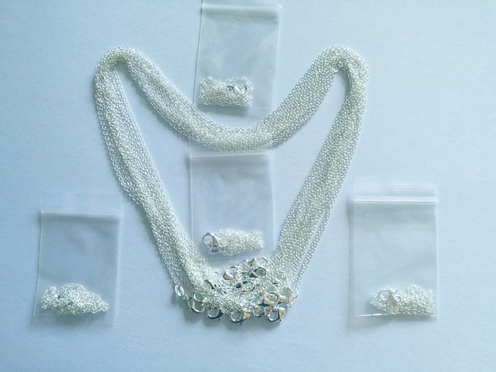 50 pcs. / Lot wholesale silver necklace chain mm 925 Silver Jewelry Figaro Chain Necklace 16 -24, choose the length! free shipping imitation pearls chain flatback resin material half pearls chain many styles to choose one roll per lot