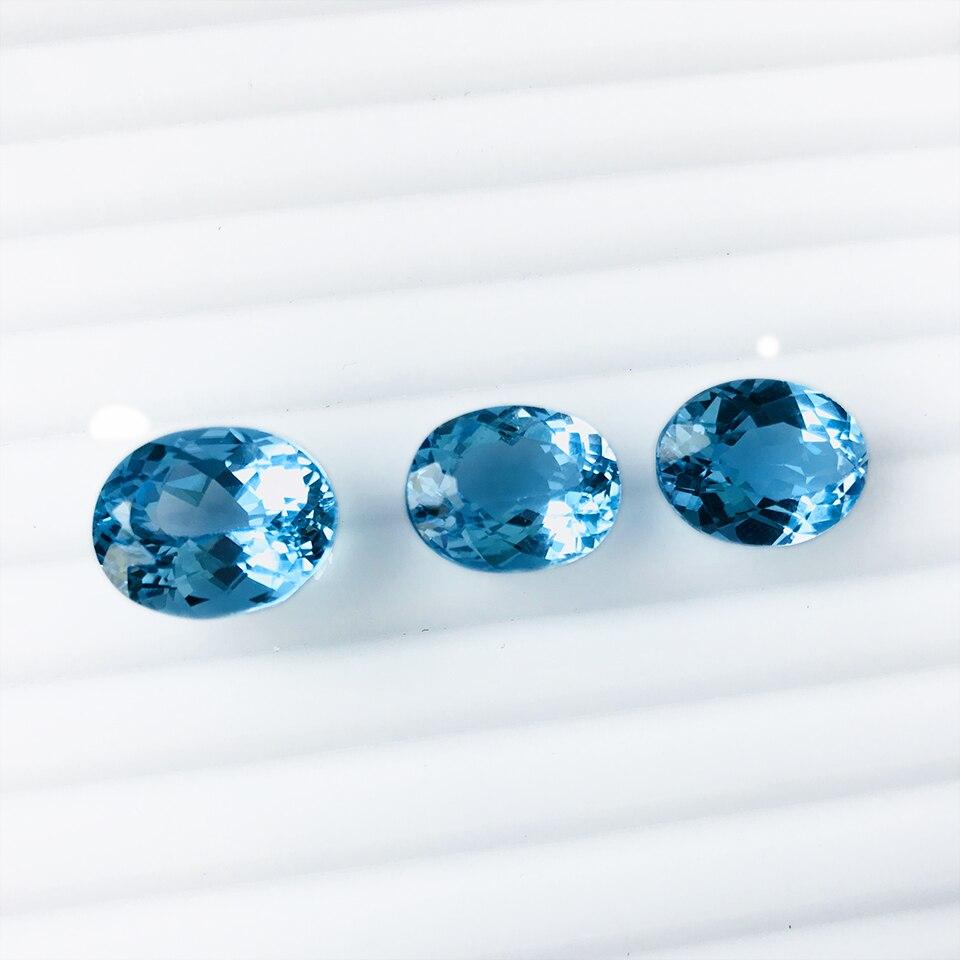 Topaze naturelle, pierre d'origine, grand corps en verre, bague en diamant, bijoux personnalisés - 4