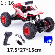 цена на Toy car Electric RC Car Rock Crawler Remote Control Toy Cars On The Radio Controlled 4x4 Drive Off-Road Toys For  Kids Gift