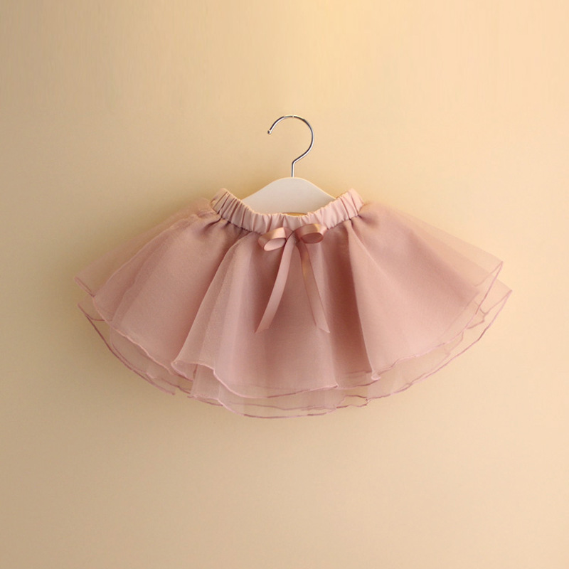 Kids Baby Girls Skirts 2018 New Summer Princess Solid Color Middle ...