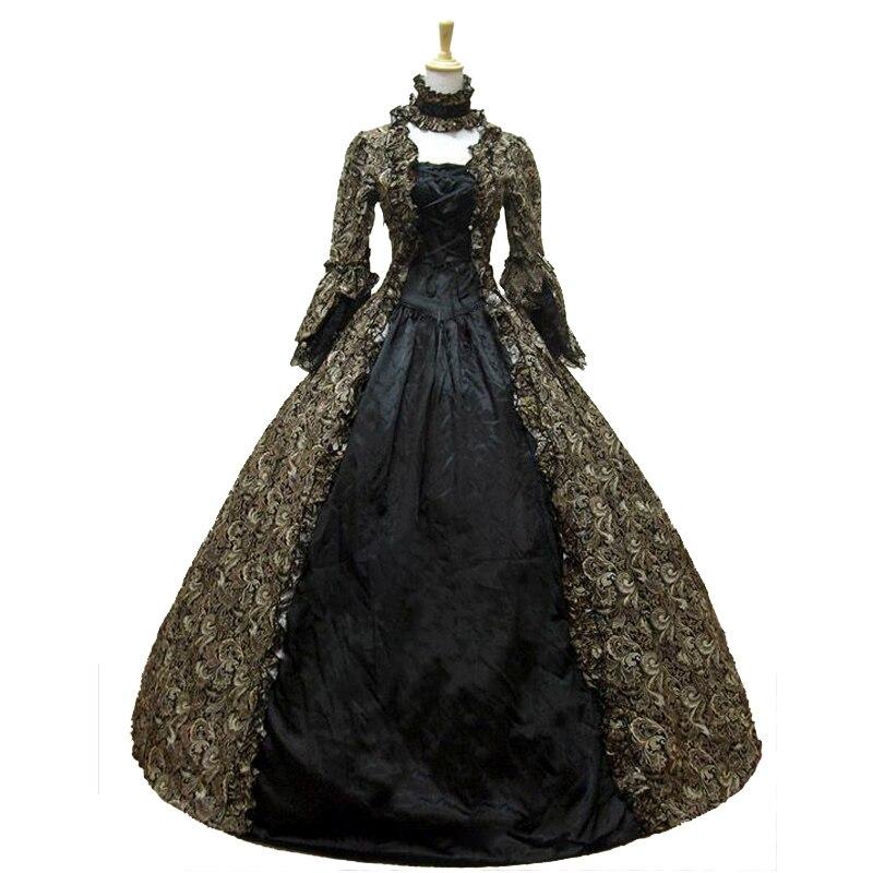 Best Seller Vintage Print Dress Vestido del siglo XVIII Marie - Disfraces - foto 3