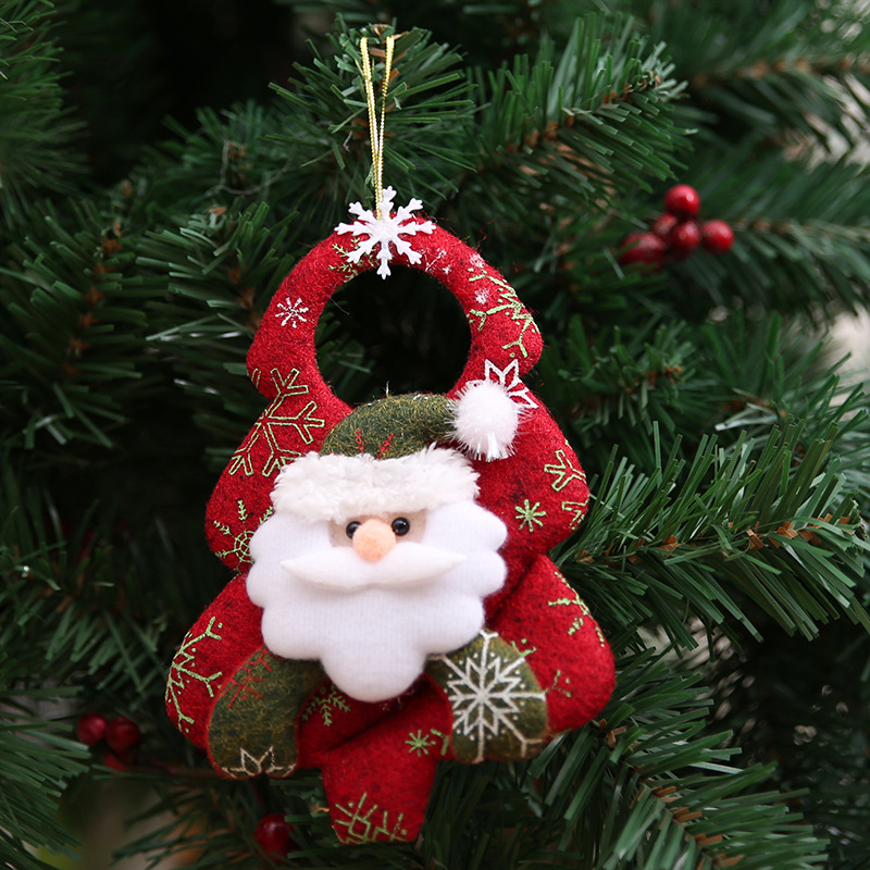 1PC Xmas Tree Pendant Santa Claus Snowman Elk Bear Christmas Tree Ornaments New Year Party Accessories XMAS Home Decor in Pendant Drop Ornaments from Home Garden