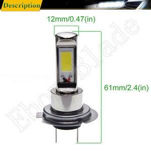 Image 2 - 페어 새로운 canbus h7 led 안개 빛 cob 80 w 화이트 6000 k 자동 트럭 주간 러닝 조명 안개 램프 전구 drl 자동차 스타일링 12 v 24 v 30 v