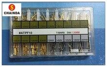 Livraison Gratuite 1 Set 1.3mm Diamètre Or et Argent Tube Friction Broches Fermoirs Bretelles Bracelets Plat Rivet Se Termine 10mm-20mm