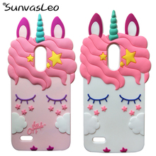 For LG Stylo 3 / Stylo 3 Plus 3D Cartoon Case Unicorn Soft Silicone Phone Cover Skin For LG G4 Stylus 3 LS777 / K10 Pro Shells стоимость