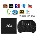 X96 2GB 16GB 16.1 S905X Android 6.0 Marshmallow TV BOX +Free Keyboard AH243-AH245