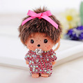 Monchichi Keychain Girl Monchhichi Sleutelhanger Creative Monchichi Car Keyring Purse Messenger Bag Backpack Key Chain Pendant