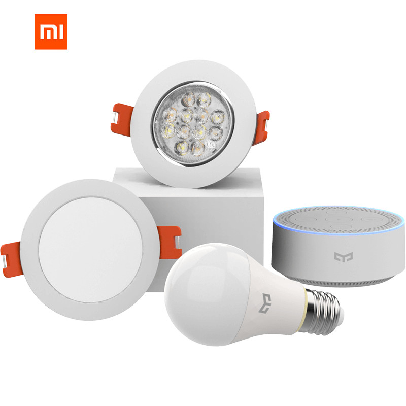 Xiaomi mijia yeelight bluetooth Mesh Version smart glühbirne und downlight, Spotlight work yeelight gateway Neueste mesh Edition