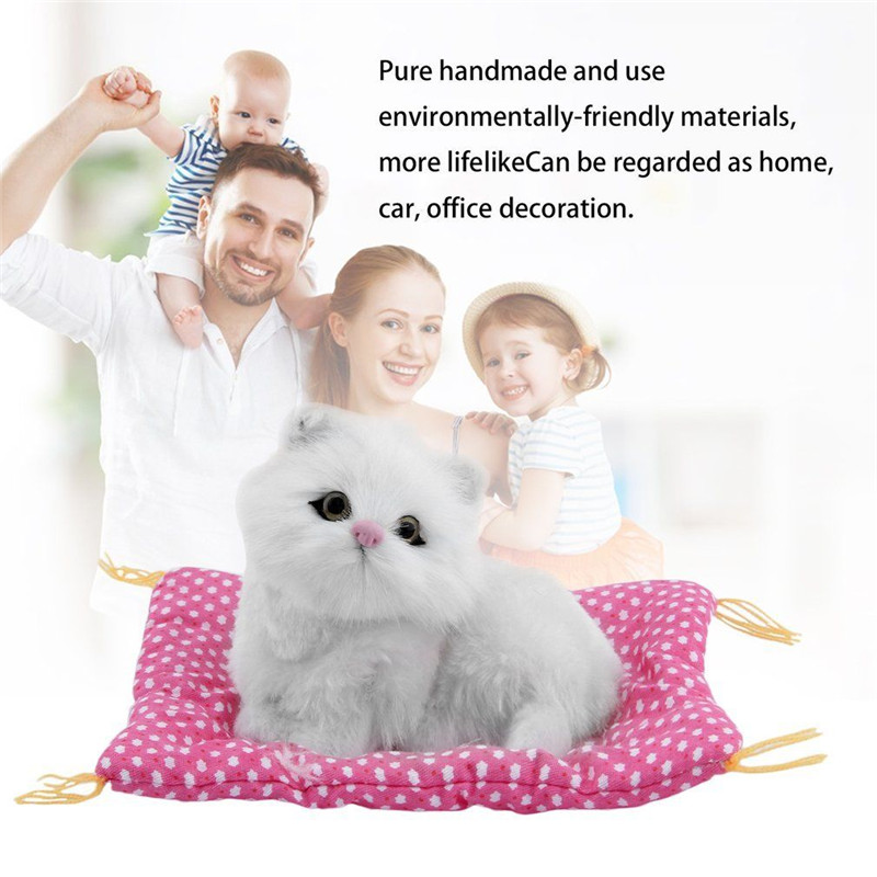 Stuffed Toys Cute Plush Animals Cat Lovely Simulation Animal interactive Doll Plush Sleeping Cats with Sound Kids