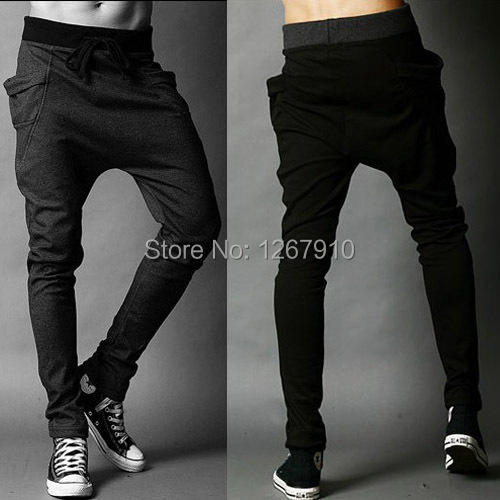 Harem Sweatpants Track-Trousers Drop-Crotch-Pants Tapered-Bandana Parkour Dance Baggy