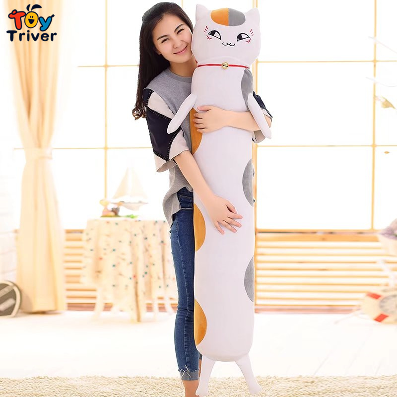ФОТО 140cm Plush Natsume's Book of Friend Cat Bear Pig Penguin Toy Doll Boyfriend Long Pillow Cushion Stuffed Bolster Gift Triver