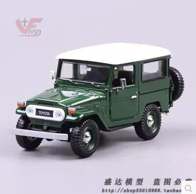 Toyota FJ40 SUV JEEP 1:24 car model Kids toy alloy original diecast metal limit collection ArmyGreen Assembled model