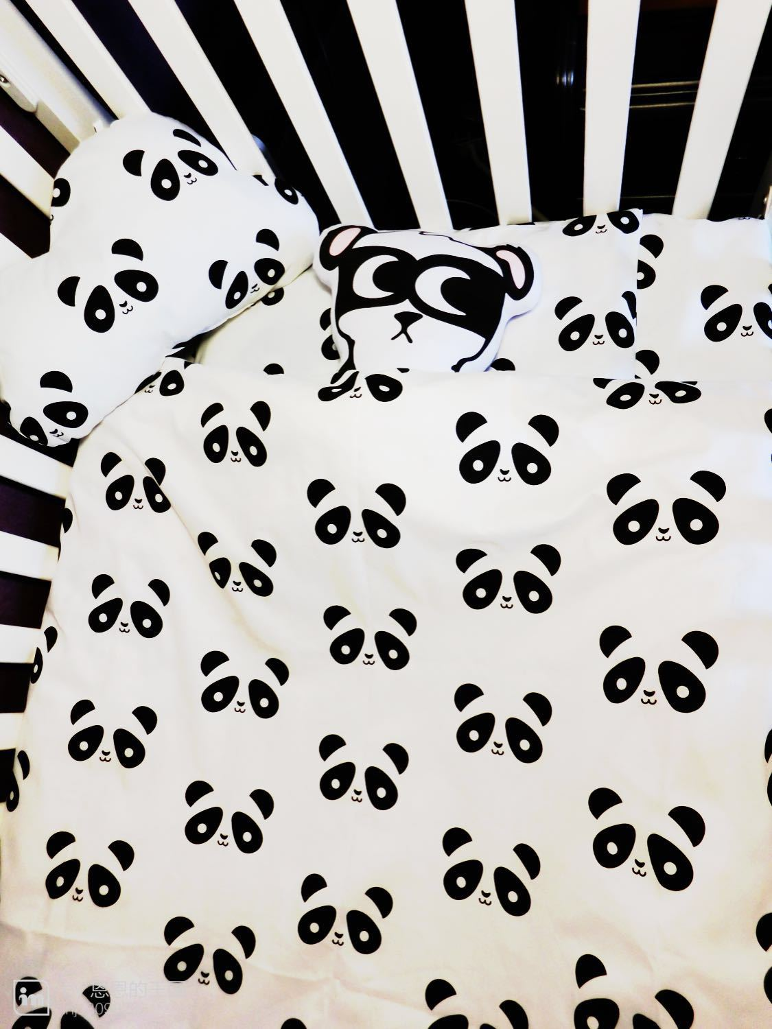 Baby quilts bed covers - 5pcs Sets Cotton Baby Bedding Set Classic Black White Colorcartoon Panda Pillow Case Quilt Cover