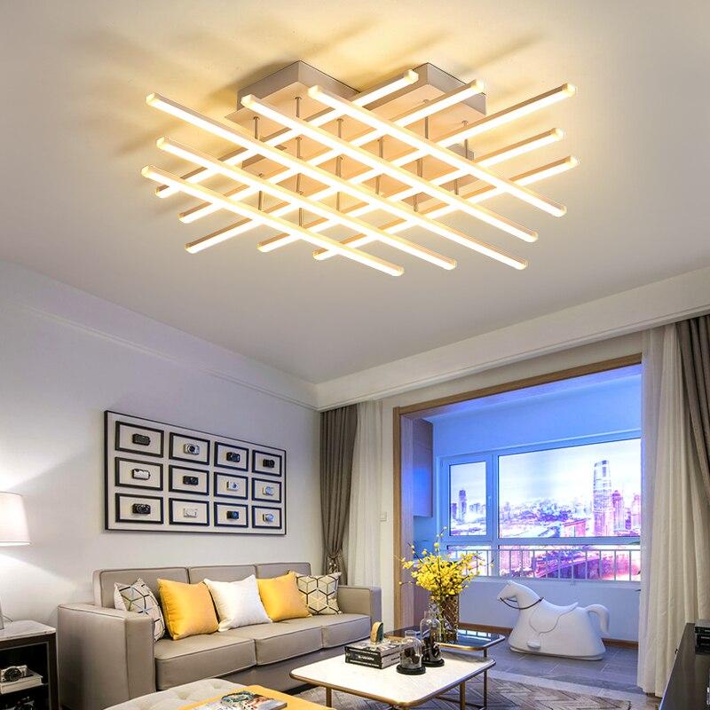LED plafonniers modernes Dimmable en aluminium Surface montée décoration de la maison nouveauté luminaire intérieur lampes télécommande